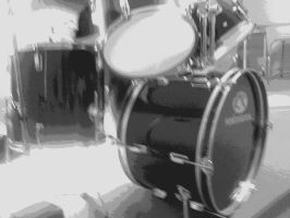 Black and White drumset by Meinl65