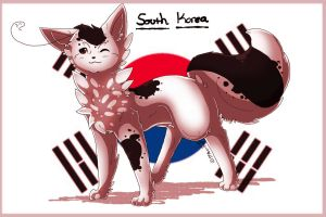 AT: South KoreaCat by JazuNeon
