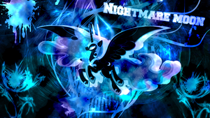 nightmare moon by JoshiePup