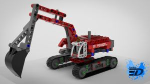 Lego Technic Excavator by Rooboy3D