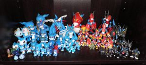 Veemon digivolution line by Kitamon
