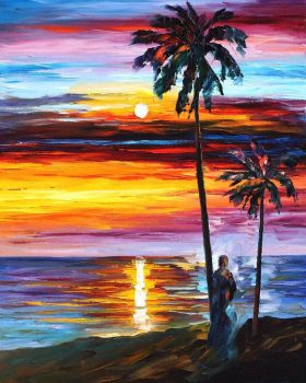 Caribbean Mood by Leonid Afremov by Leonidafremov
