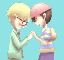 Mother 2: JeffNess by Pink-Shimmer