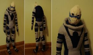 Custom plush - larger Garrus by silentorchid