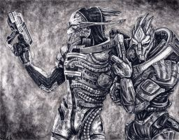 Saren and Nihlus - Allies by efleck