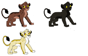 Lioness adoptables batch 1 by ZombieCookieEater14
