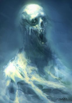 Ghost inside the fridge   30 minute Speedpainting by MitchGrave