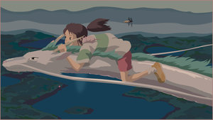Spirited Away - Chihiro and Haku by Judan