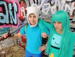 Adventure Time Cosplay - Finn and BMO by problematiiques
