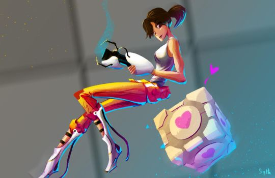 Chell_portal_ by Sythelum