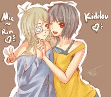 Kiddou and Mie Rin by kiddou