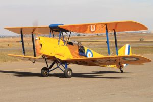 Tiger Moth on ground by Rooivalk1