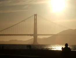 Golden Gate at twilight by tezzan