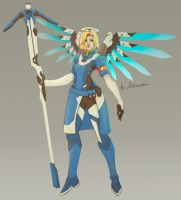 Mercy Overwatch  Skin by Alikamoon