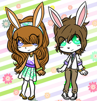 AUCTION - EASTER BUNNIES - CLOSED by Attack-On-Adopts