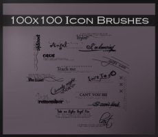 100x100 icon brushes by ALiceFaux