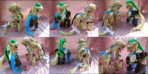 Hyrule Warriors Link and Zelda by LightningSilver-Mana