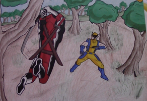 Deadpool vs. Wolverine Fanart by AnthonyParenti