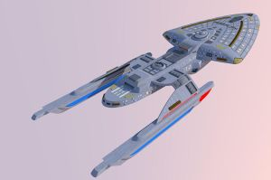 Star Trek Voyager: Intrepid Class Prototype 1 by calamitySi