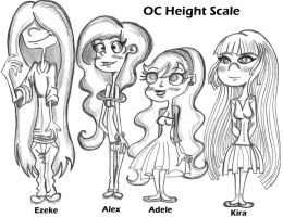EEnE OC Height Scale by Queen-Asante