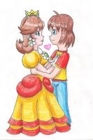 Daisy and MB64 Hugging by LilacPhoenix