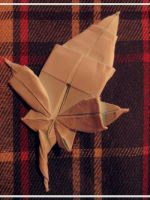Origami Maple Leaf by BlackDelphin