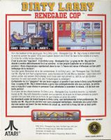 Dirty Larry: Renegade Cop Back Cover by derrickthebarbaric