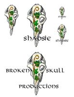 Broken Skull Logo by Shadsie