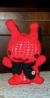 Hand Knit - Demented Bunny by gippentarp