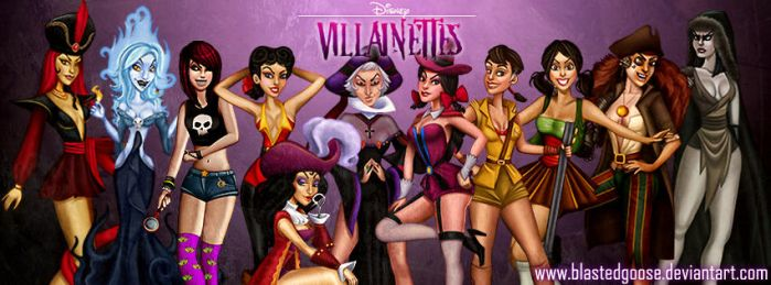 Facebook Timeline Cover - Disney Villainettes by blastedgoose
