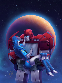 Ironhide and Chromia by Kuriko-san