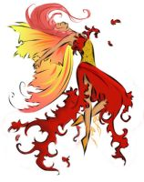 Amy Brown Fire fairy by Neriokili