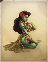Zombie Hula Girl by SnakeToast