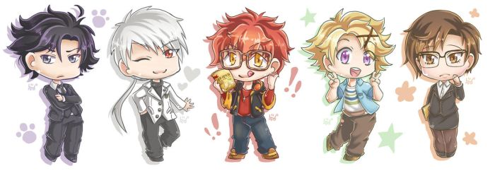 Mystic Messenger Chibis by ForbiddenDesirers