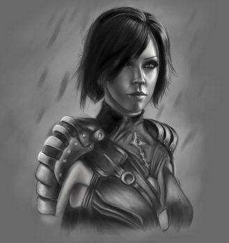 Leliana, Sacred Ashes BW by farv