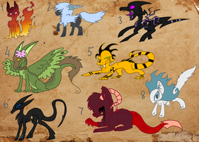 Adoptable creatures batch (CLOSED) by Flaamez