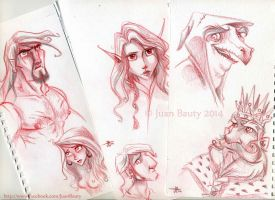 Sketches 2014 by juanbauty