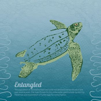 Beautifully Fragile: Leatherback Sea Turtle by CreativeFelli