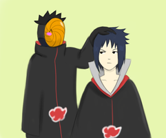 Tobi and Sasuke by Komiya-chan