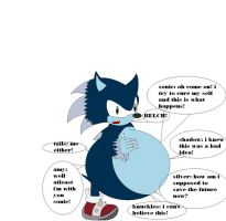 Sonic Werehog Ate Sonic Shadow Silver Knuckles by samus0suit
