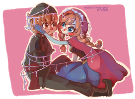 Frozen - Anna and Kristoff by MindlessFrappe