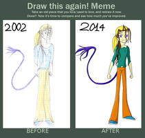 meme before and after pic - my oc Kilukes by Herure