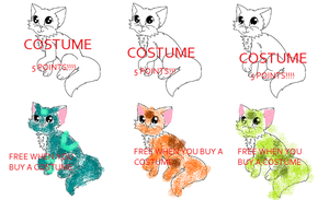 SUPER CHEAP COSTUMES! 5 POINTS! by snoopyluver5
