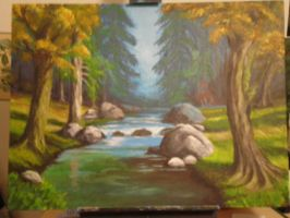 Forest Creek Painting by debbynaomi