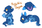 Baby Blue Dragon by Hauket