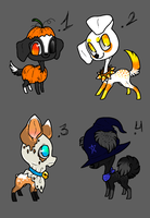 Halloween dogs adoptables - CLOSED by GGFOX22