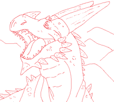 MSPaint Dragon by YQK