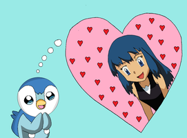 Piplup and Dawn by CharizardChampion