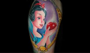 snow white by redliontattoo