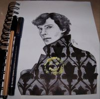 Sherlock - Benedict Cumberbatch by as-obu